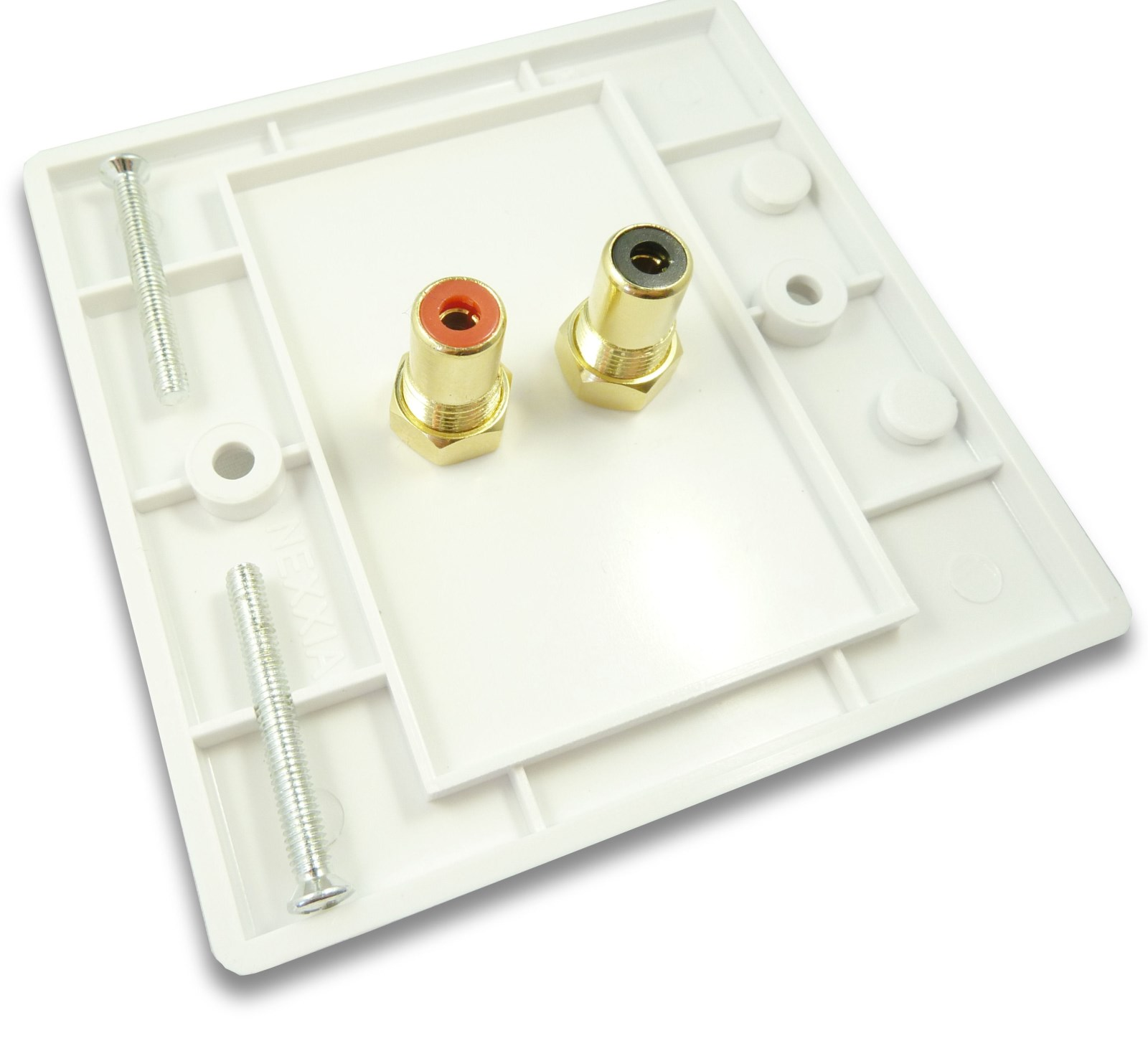 Stereo Phono Rca Wall Plate Quick Connect No Soldering Cables4all Audio Wiring Plates